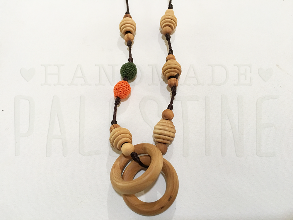 Original Little Olea with Dark Green & Orange Beads
