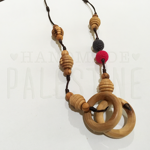 Original Little Olea with Red & Black Beads