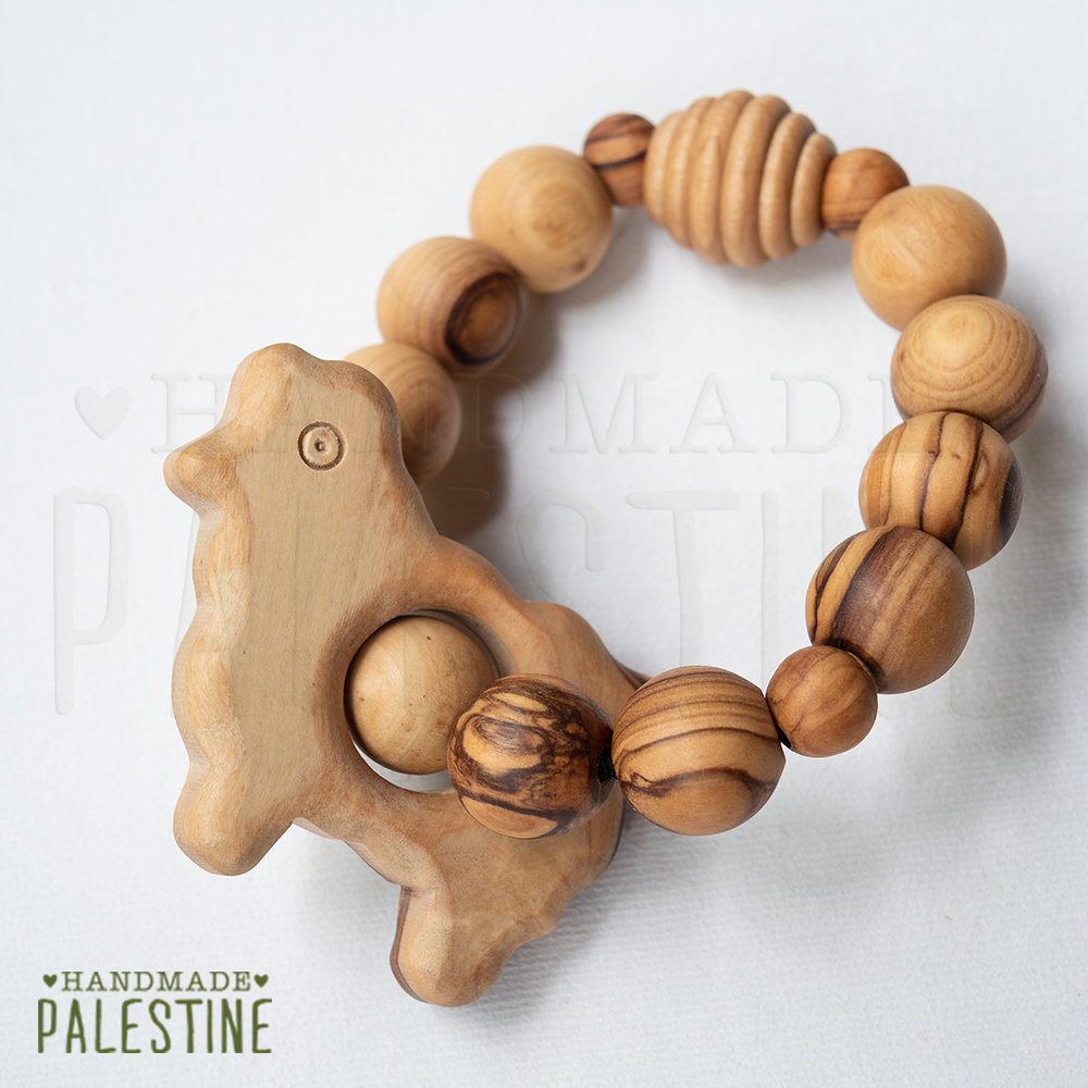Wooden Nursing Bracelet in Sheep Design