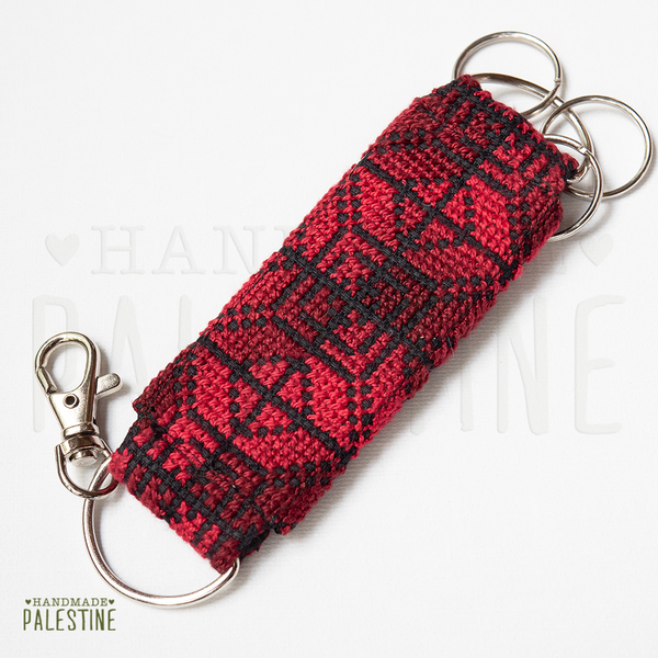 Tatreez Key Chain Red