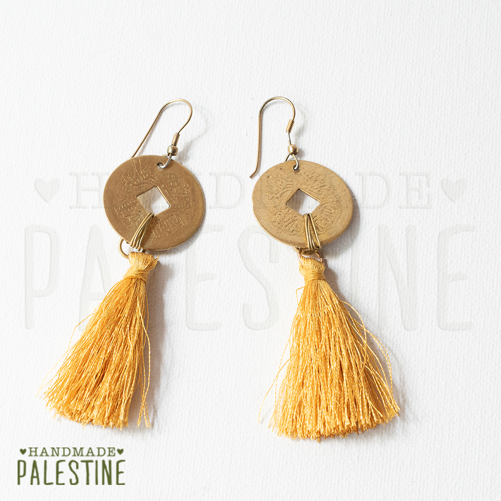 Gypsy Earrings: tassel gold with egyptian gold
