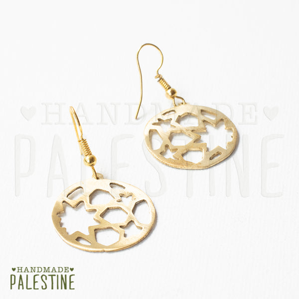 Brass Jewelry - Arabesque Earrings In Brass