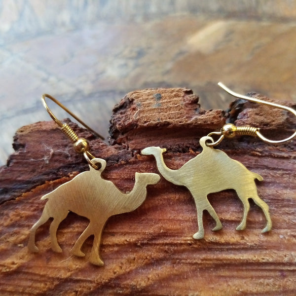 Brass Jewelry - Camel Earrings In Brass