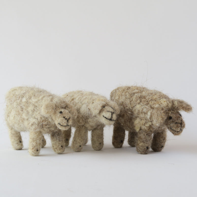 Felt - Wool Sheep In Needle Felt For Kids Toy Or Decoration