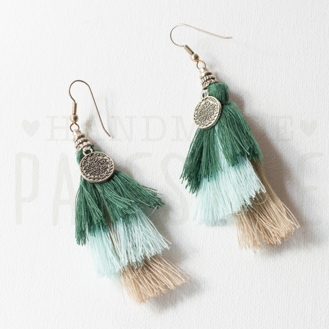 Gypsy Tassel Earrings with 1 coin