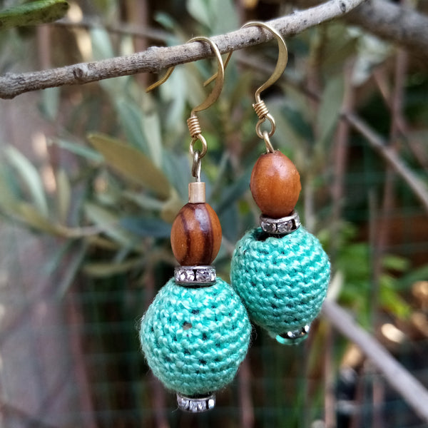 Handmade Jewelry - Crocheted Bead Earrings