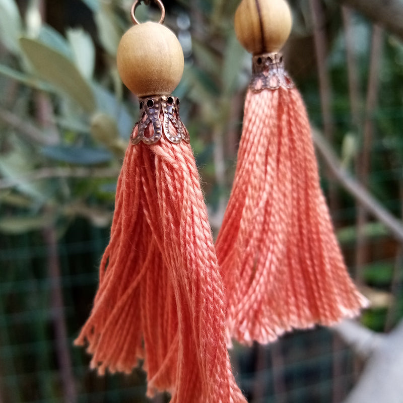 Handmade Jewelry - Tassel Earring In Autumn Colors
