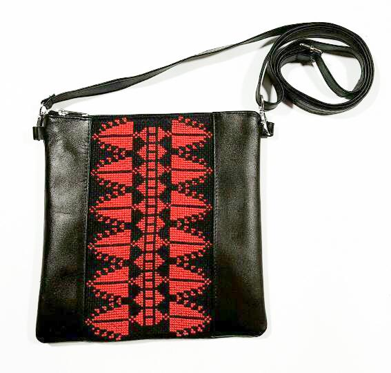Leather & Clothing - Leather Crossbody Bag In Black