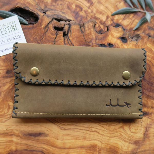 Leather & Clothing - Leather Zippered Pouch