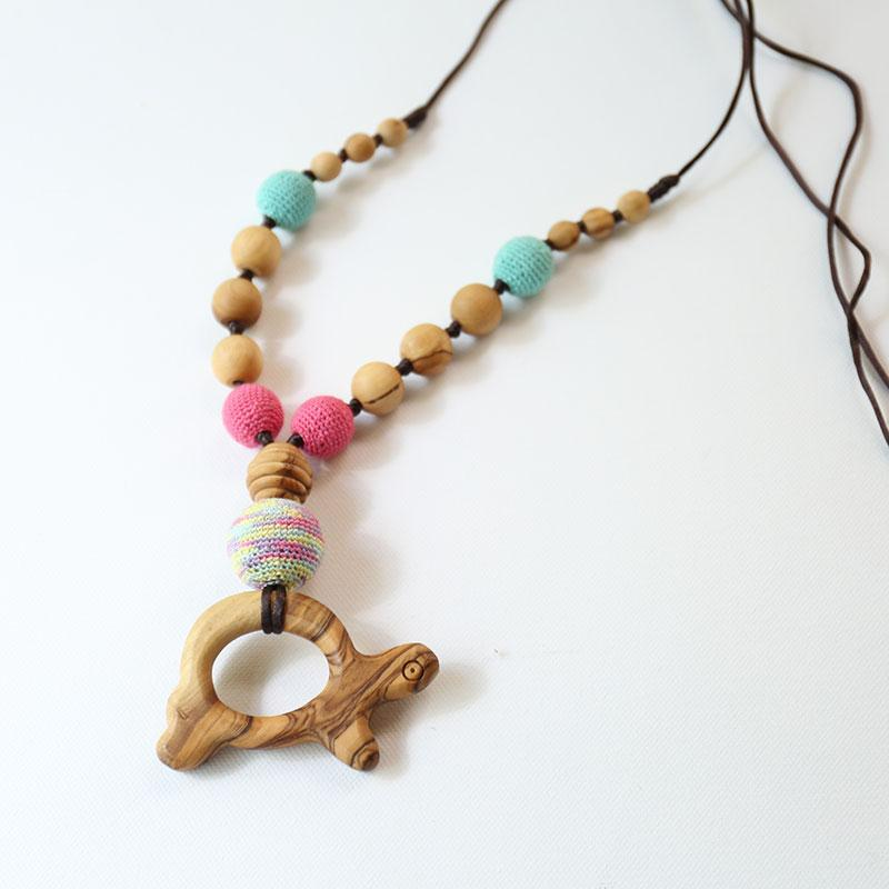 Little Olea - Nursing Necklace For Babies - All Natural Wood
