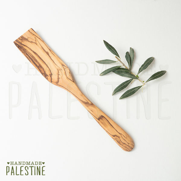 Olive Wood - Kitchen Utensils: Curved Long Spatula