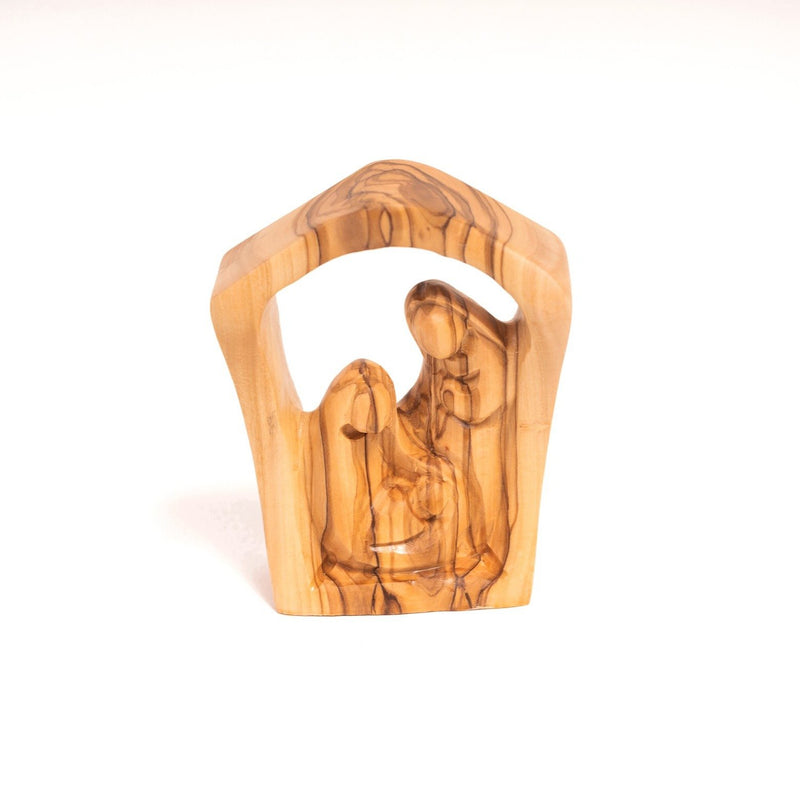 Olive Wood - Nativity Bell