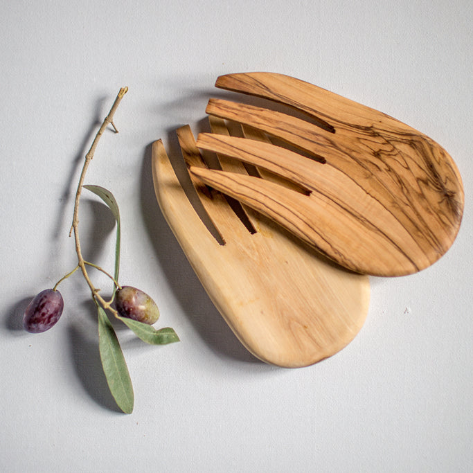 Olive Wood - Salad Claws - Serving Utensils