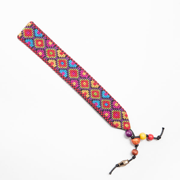 Paper, Cards & Books - Tatreez Bookmark In Rainbow Fish Scales Design
