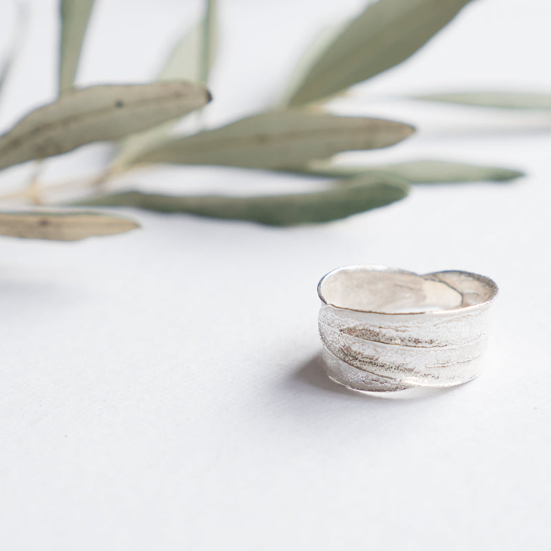 Silver Jewelry - Sterling Silver Ring - Double Wrapped Olive Leaf
