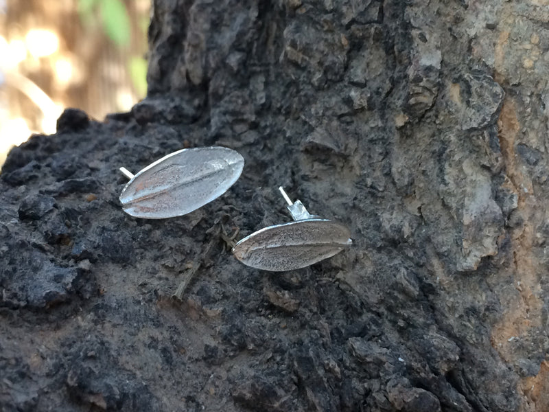 Silver Jewelry - Stud Olive Leaf Earring In Sterling Silver