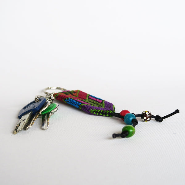 Tatreez - Embroidered Keychain From Gaza