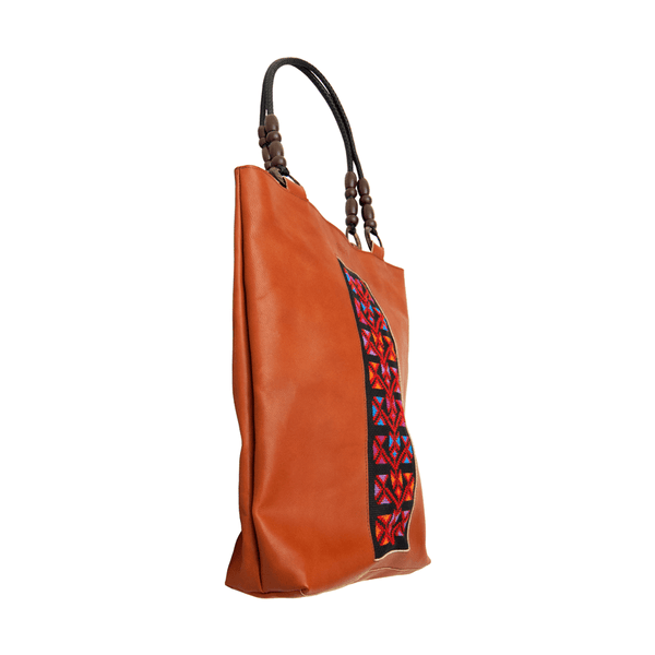 Tatreez - Leather Handbag With Embroidery