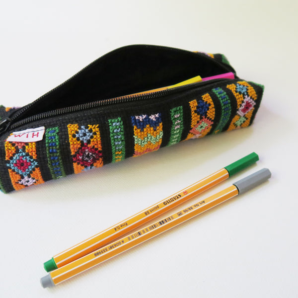 Tatreez - Pencil Case In Palestinian Embroidery