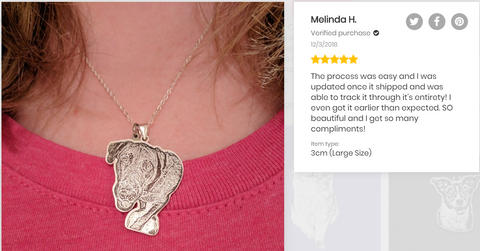 dog photo memorial necklace