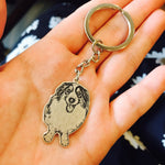 custom dog photo portrait keychain