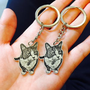 Sterling Silver Personalized Pet Photo Necklace / Bracelet / Keychain