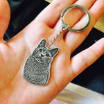 custom pet photo portrait keychain