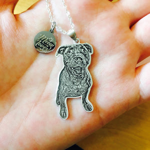 custom pet photo portrait necklace