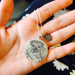 Disc Shape Personalized Pet Photo Necklace