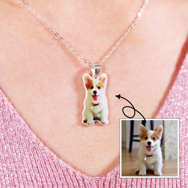 Full Color Personalized Pet Photo Necklace-Personalized Pet Jewelry-MeowLoverClub