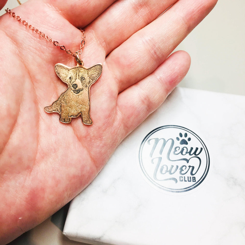 Gold Plated Personalized Pet Photo Necklace-Personalized Pet Jewelry-MeowLoverClub