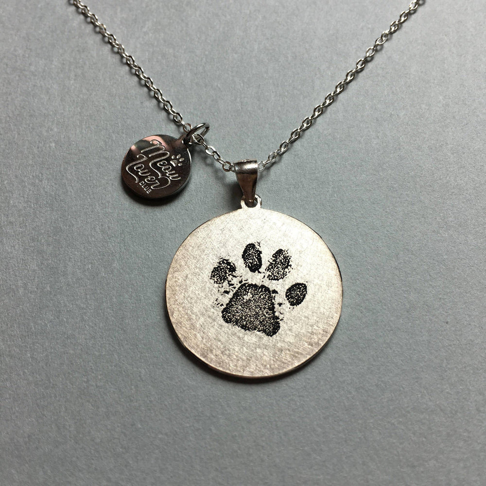 Personalized Pet Paw Print Necklace-Personalized Pet Jewelry-MeowLoverClub