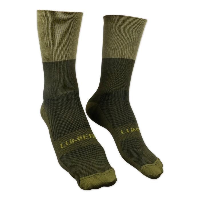 Two Tone Olive Socks