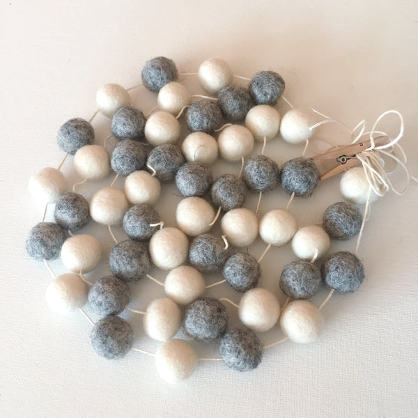 Sweater Weather Felt Ball Garland