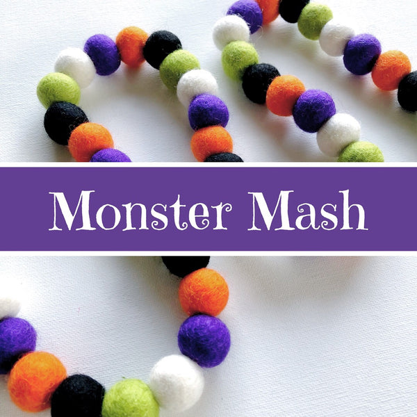 Monster Mash Felt Ball Garland