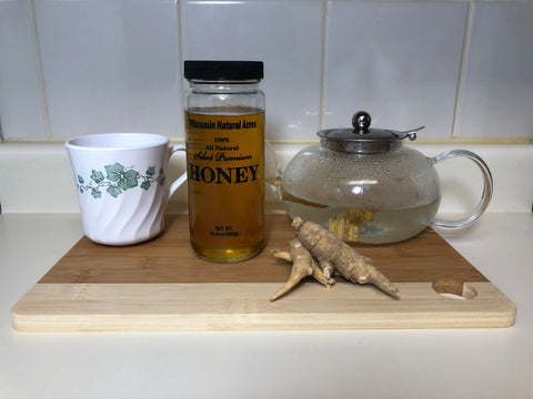 Wisconsin American Ginseng Root Tea With Honey