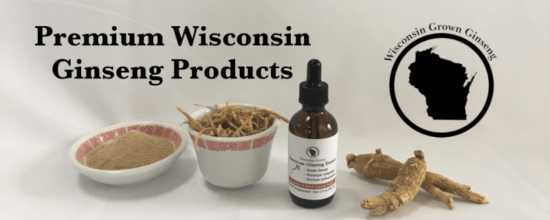 Wisconsin Grown American Ginseng Root Banner Image