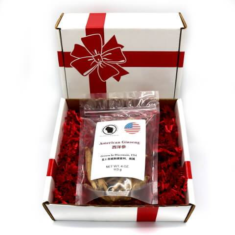 Wisconsin Grown American Ginseng Root Large Gift Box