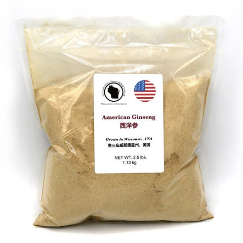 Wisconsin Grown American Ginseng Root Bulk Powder