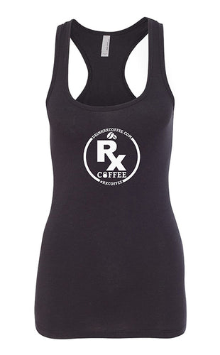 Women's Rx Coffee Black Racerback Tank (FREE SHIPPING U.S.A.)