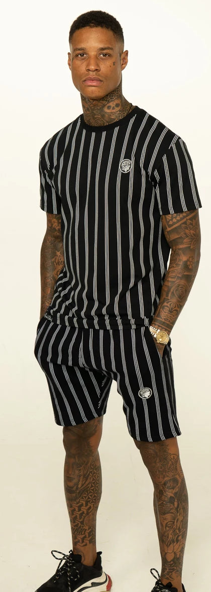 Black Pinstripe Twin Set