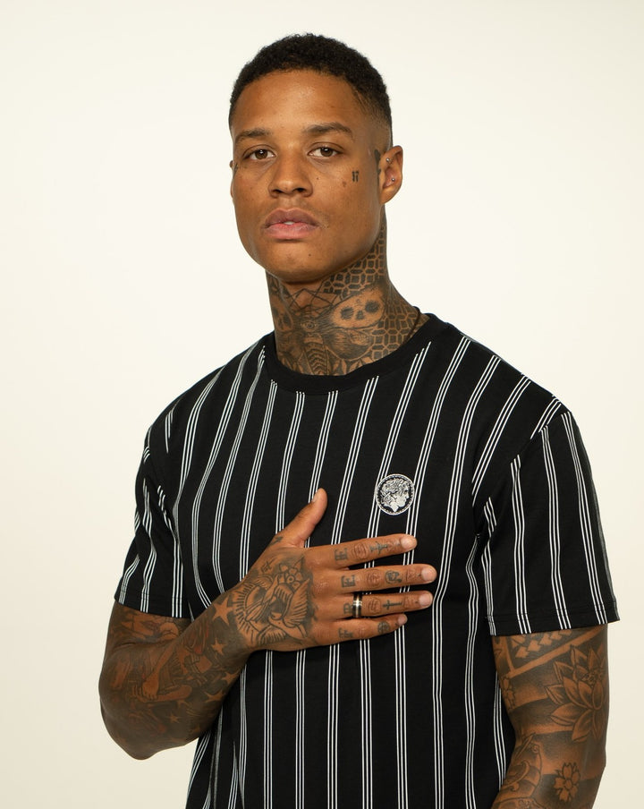 Black Pinstripe T-Shirt