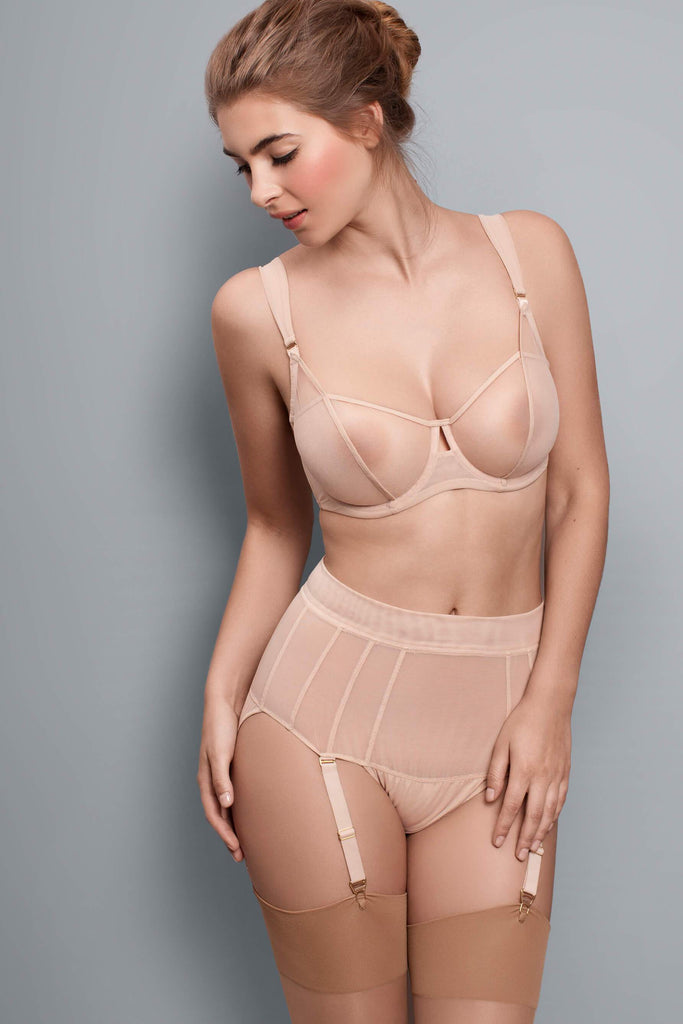 Fran High Waist Briefs with Suspenders