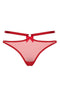 Bordelle Harness thong in red