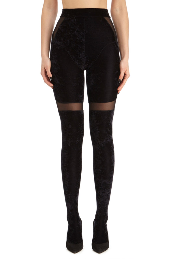 DSTM solta leggings tights velvet in black