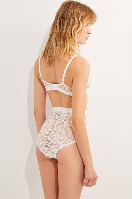 Petunia High Waist Brief in Ivory