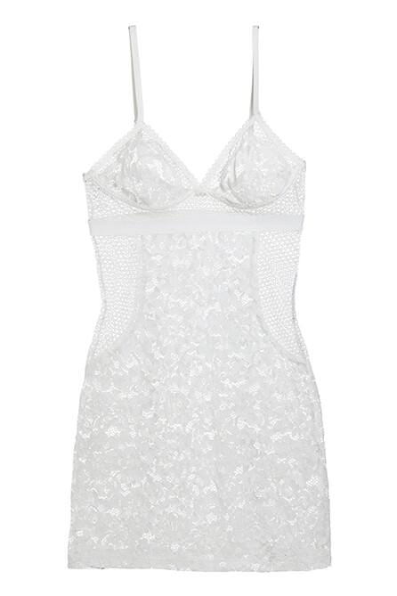 Petunia Triangle Cup Slip Dress in Ivory