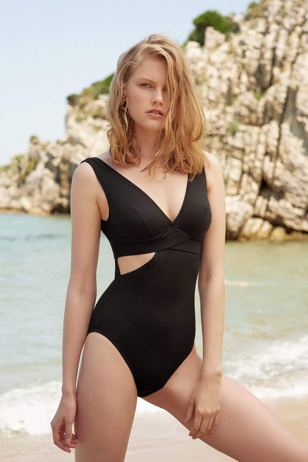 Ziggy Plunge Cut Out One Piece Swimsuit