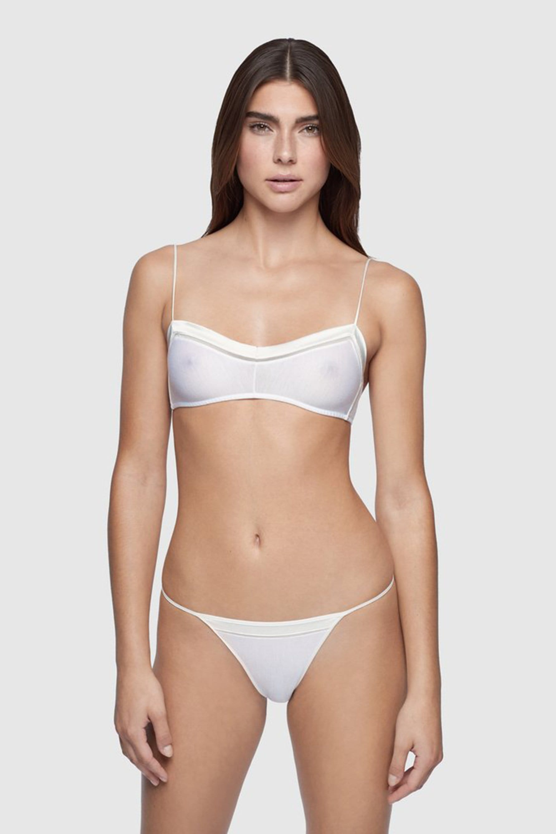 Intime Bandeau Bra in White