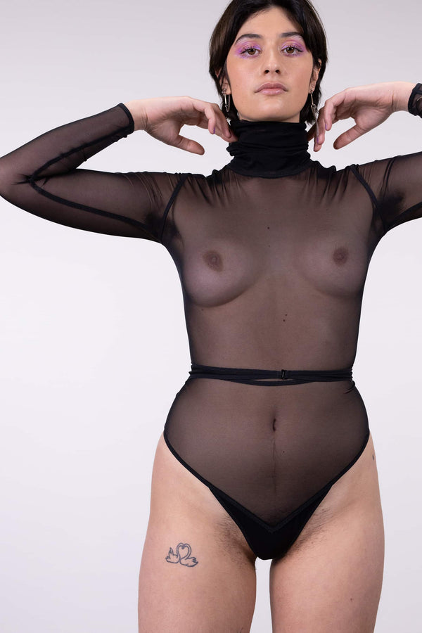 Neu! Long Sleeve Turtleneck Bodysuit
